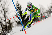 2nd February 2019, Maribor, Slovenia;  Ana Bucik of Slovenia in action during the Audi FIS Alpine Ski World Cup Women's Slalom Golden Fox on February 2, 2019 in Maribor, Slovenia