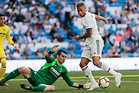 Real Madrid&rsquo;s Mariano Diaz and Villarreal CF&rsquo;s Andres Fdez. during La Liga match between Real Madrid and Villarreal CF at Santiago Bernabeu Stadium in Madrid, Spain. May 05, 2019. (ALTERPHOTOS/A. Perez Meca)<br /> Liga Campionato Spagna 2018/2019<br /> Foto Alterphotos / Insidefoto <br /> ITALY ONLY