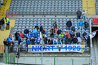 20191221 - LENS , FRANCE : Niort FC supporters pictured during the soccer match between Racing Club de LENS and Niort , on the 19 th matchday in the French Ligue 2 at the Stade Bollaert Delelis stadium , Lens . Saturday 21 December 2019. PHOTO STIJN AUDOOREN   SPORTPIX.BE