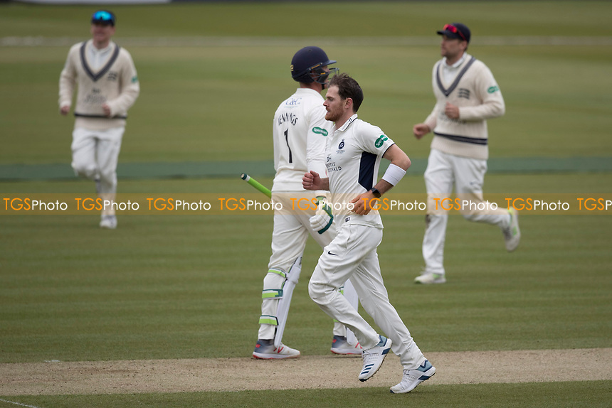 Harris makes the breakthrough for Middlesex removing Keaton Jennings during Middlesex CCC vs Lancashire CCC, Specsavers County Championship Division 2 Cricket at Lord's Cricket Ground on 12th April 2019