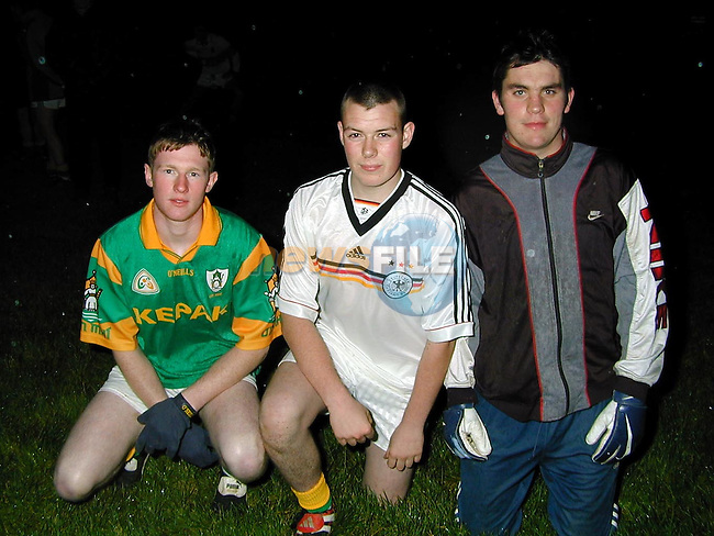 Sydden GFC. Sean Malone, Dereck Young and James Sheehy.Picture by Fran Caffrey Newsfile