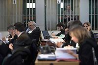 Roma, 19 Novembre 2015<br /> Carlo Pucci<br /> Imputati detenuti dietro le sbarre delle celle.<br /> Aula bunker di Rebibbia<br /> Terza udienza del processo Mafia Capitale,