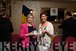 Harnett Reunion: Official Launch a Leen's Hotel, Abbeyfeale on Wednesday night, Enjoying a cuppa from the new Harnett memorabilia mugs <br /> are Márie & Irene Harnett .