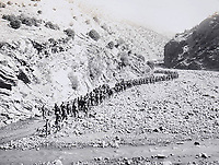 BNPS.co.uk (01202 558833)<br /> Pic: LaceyScott&Knight/BNPS<br /> <br /> British Indian troops marching up into the remote region bordering Afghanistan.<br /> <br /> From the far reaches of the British Empire - Remarkable previously unseen photos of a forgotten military campaign has come to light 100 years later.<br /> <br /> The little known Waziristan campaign of 1919 and 1920 saw the British and Indian forces engaged in fierce fighting against Afghan tribesman who invaded northern India.<br /> <br /> However, the conflict, which saw the use of the might of the RAF in targeted bombing raids, has become almost lost to history since it took place just after the Great War.<br /> <br /> The battleground was the rugged, remote, mountainous region which is modern day northern Pakistan, on the southern border of Afghanistan.
