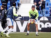 10th February 2019,  Estadio Municipal de Butarque, Leganes, Spain; La Liga football, Leganes versus Real Betis; Jonathan Silva (CD Leganes)  Pre-match warm-up