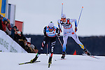 Francesco De Fabiani competes during the 10 Km Individual Free race of Tour de ski as part of the FIS Cross Country Ski World Cup  in Dobbiaco, Toblach, on January 8, 2016. Finn Haagen Krogh wins the stage. Martin Johnsrud Sundby (2nd) remains leader. French Maurice Manificat is third. Credit: Pierre Teyssot