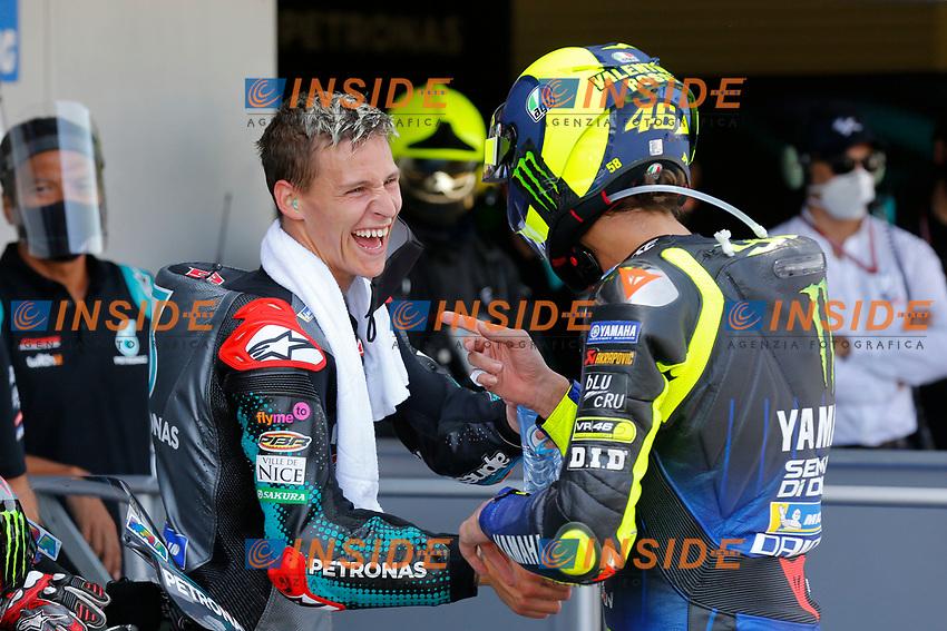 Fabio Quartararo Sepang Racing Team SRT winner, Valentino Rossi Yamaha third <br /> Andalucia MotoGP 2020 <br /> Jerez 26/07/2020 Moto Gp Andalucia 2020 / Spain<br /> Photo SRT Press Office / Insidefoto <br /> EDITORIAL USE ONLY