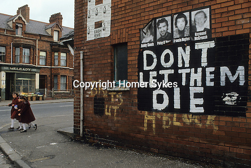 Belfast 1980s Dont let the Die Hunger strikers
