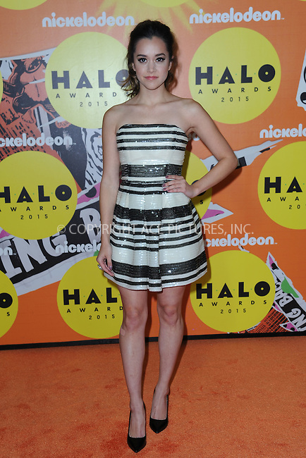WWW.ACEPIXS.COM<br /> November 14, 2015 New York City<br /> <br /> Megan Nicole attending the 2015 Nickelodeon HALO Awards at Pier 36 on November 14, 2015 in New York City.<br /> <br /> Credit: Kristin Callahan/ACE<br /> Tel: (646) 769 0430<br /> e-mail: info@acepixs.com<br /> web: http://www.acepixs.com