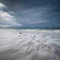 Incoming waves of Beach, Howmore, South Uist, Western Isles, Scotland