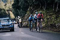 Tim Wellens (BEL/Lotto-Soudal) leading Alejandro Valverde (ESP/Movistar) & Gianni Moscon (ITA/SKY) up the Coll de Puig Major<br /> <br /> Trofeo Lloseta - Andratx: 140km<br /> 27th Challenge Ciclista Mallorca 2018