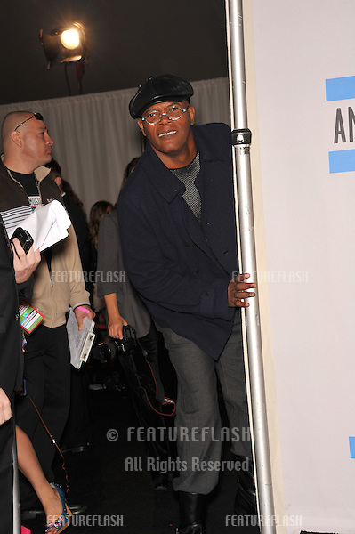 Samuel L. Jackson at the 2010 American Music Awards at the Nokia Theatre L.A. Live in downtown Los Angeles..November 21, 2010  Los Angeles, CA.Picture: Paul Smith / Featureflash