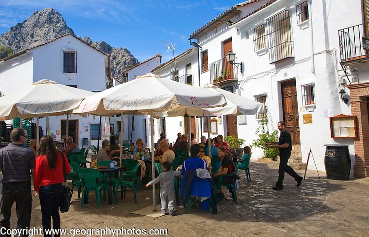 Cafes in Andalucian village of Grazalema, Cadiz province, Spain