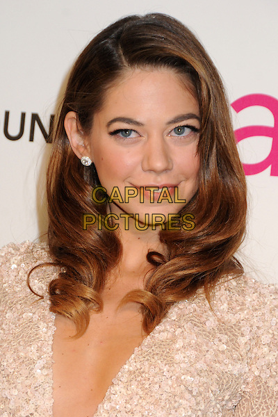 Analeigh Tipton.21st Annual Elton John Academy Awards Viewing Party held at West Hollywood Park, West Hollywood, California, USA..February 24th, 2013.oscars headshot portrait cream nude lace  .CAP/ADM/BP.©Byron Purvis/AdMedia/Capital Pictures.