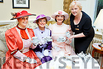 Mary McMonagle pours tea for her fair ladies l-r: Kathy O'Callaghan, Martina O'Leary and Aine McMahon at the Afternoon tea in aid of the Irish Cancer Society to celebrate the reopening on the Great Southern Hotel