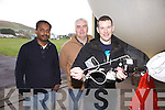 At the balloon launch from Valentia Observatory in Cahersiveen testing the principals of Boyles Law were l-r; Saji Varghese(Chief Scientist Valentia Observatory), Mike Gill(Technical Officer Valentia Observatory) & Dr Keith Nolan(CTVR- Telecommunications Research Centre).