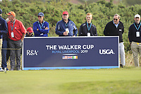 The 4th tee during the Foursomes at the Walker Cup, Royal Liverpool Golf CLub, Hoylake, Cheshire, England. 07/09/2019.<br /> Picture Thos Caffrey / Golffile.ie<br /> <br /> All photo usage must carry mandatory copyright credit (© Golffile | Thos Caffrey)