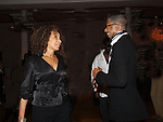 """Law & Order SVU's Tamara Tunie and designer B. Michael dance at The Fourteenth Annual Hearts of Gold Gala """"Hooray for Hollywood!"""" - with its mission to foster sustainable change in lifestyle and levels of self-sufficiency for homeless mothers and their children on October 28, 2010 at the Metropolitan Pavillion, New York City, New York. (Photo by Sue Coflin/Max Photos)"""