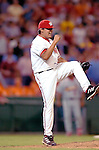 26 August 2005: Chad Cordero, All-Star pitcher for the Washington Nationals, celebrates his league-leading 41st close of the season against the St. Louis Cardinals, as the Nationals defeat the Cards 4-1 at RFK Stadium in Washington, DC. Mandatory Photo Credit: Ed Wolfstein.