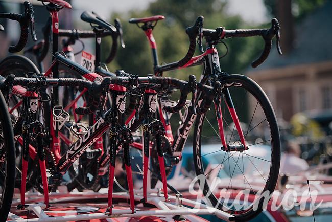 Team Cofidis spare bikes<br /> <br /> Stage 9: Arras Citadelle > Roubaix (154km)<br /> <br /> 105th Tour de France 2018<br /> ©kramon