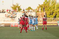 Boyds, MD - Saturday June 03, 2017: Cheyna Williams during a regular season National Women's Soccer League (NWSL) match between the Washington Spirit and Houston Dash at Maureen Hendricks Field, Maryland SoccerPlex.