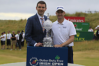Russell Knox (SCO) winner of the Dubai Duty Free Irish Open, Ballyliffin Golf Club, Ballyliffin, Co Donegal, Ireland. 08/07/2018<br /> Picture: Golffile | Thos Caffrey<br /> <br /> <br /> All photo usage must carry mandatory copyright credit (&copy; Golffile | Thos Caffrey)