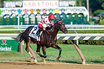 Mind Control (no. 2), ridden by John Velazquez and trained by Gregory Sacco, wins the 114th running of the grade 1 Hopeful Stakes for two year olds on September 03, 2018 at Saratoga Race Course in Saratoga Springs, New York. (Robert Simmons/Eclipse Sportswire)
