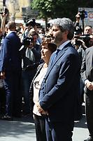 """Commemoration of the """"Festa della Liberazione"""" in Italy.In picture Roberto Fico,(President of the Chamber of Deputies) Presidente della Camera dei Deputati"""