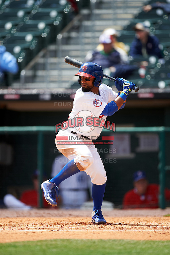 Buffalo Bisons shortstop Alexi Casilla (12) during a game against the Toledo Mudhens on May 18, 2016 at Coca-Cola Field in Buffalo, New York.  Buffalo defeated Toledo 7-5.  (Mike Janes/Four Seam Images)