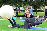 Eimear Ní Fhallóin gets some Pilates instruction from Sarah Plunkett (Body Right) at the free Pilates and Tai Chi Classes Held by Body Right at Dominics Park in aid of the Tania McCabe Foundation...(Photo credit should read Jenny Matthews www.newsfile.ie)....This Picture has been sent you under the conditions enclosed by:.Newsfile Ltd..The Studio,.Millmount Abbey,.Drogheda,.Co Meath..Ireland..Tel: +353(0)41-9871240.Fax: +353(0)41-9871260.GSM: +353(0)86-2500958.email: pictures@newsfile.ie.www.newsfile.ie.