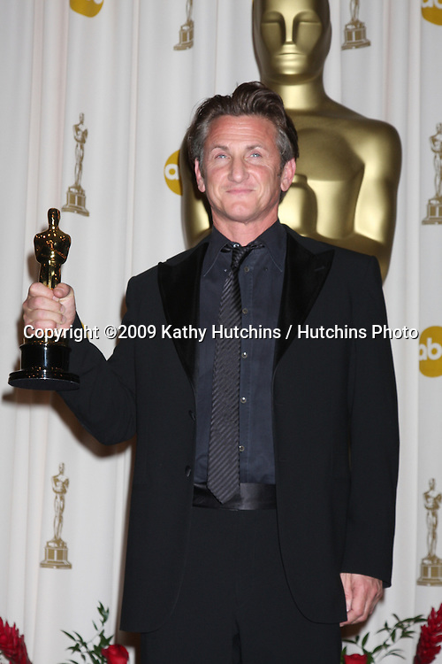Sean Penn  in the 81st Academy Awards Press Room at the Kodak Theater in Los Angeles, CA  on.February 22, 2009.©2009 Kathy Hutchins / Hutchins Photo...                .