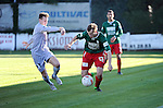 2015-11-01 / Voetbal / seizoen 2015-2016 / Groen-Rood Katelijne - Houtvenne / Maxim Put met Ief Van Gansen (r. Houtvenne)<br /><br />Foto: Mpics.be