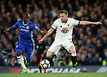 Chelsea's N'Golo Kante tussles with Watford's Tom Cleverley during the Premier League match at Stamford Bridge Stadium, London. Picture date: May 15th, 2017. Pic credit should read: David Klein/Sportimage