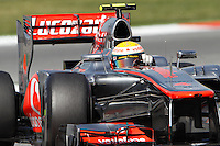 12.05.2012. Circuit de Catalunya, Montmeol, Spain, One the 3rd Practice Session. Picture show  Lewis Hamilton (England driver of McLaren)