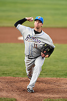 Akron RubberDucks pitcher Will Roberts (11) delivers a pitch during a game against the Erie SeaWolves on May 17, 2014 at Jerry Uht Park in Erie, Pennsylvania.  Erie defeated Akron 2-1.  (Mike Janes/Four Seam Images)