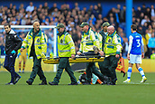 1st October 2017, Hillsborough, Sheffield, England; EFL Championship football, Sheffield Wednesday versus Leeds United; Pontus Jansson of Leeds United FC is stretchered off
