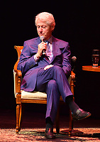 "FORT LAUDERDALE, FL - JUNE 12: Former U.S. President Bill Clinton in a conversation about his new book with author James Patterson "" The President is Missing"" hosted by author Brad Meltzer at the Broward Center Au-Rene Theater on June 12, 2018 in Fort Lauderdale, Florida.  Credit: MPI10 / MediaPunch"