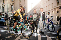 Primoz Roglic (SVK/Jumbo-Visma) at the start of the race<br /> <br /> 113th Il Lombardia 2019 (1.UWT)<br /> 1 day race from Bergamo to Como (ITA/243km)<br /> <br /> ©kramon