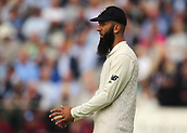 7th September 2017, Lords Cricket Ground, London, England; International Test Match Series, Third Test, Day 1; England versus West Indies; Moeen Ali of England prepares to field