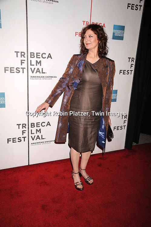 """Susan Sarandon..arriving at The Tribeca Film Festival's  screening of """"Speed Racer'  on May 3, 2008 at Borough of Manhattan Community College/TPAC in New York City. ....Robin Platzer, Twin Images"""