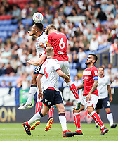Bolton Wanderers' Josh Magennis<br /> <br /> Photographer Andrew Kearns/CameraSport<br /> <br /> The EFL Sky Bet Championship - Bolton Wanderers v Bristol City - Saturday August 11th 2018 - University of Bolton Stadium - Bolton<br /> <br /> World Copyright &copy; 2018 CameraSport. All rights reserved. 43 Linden Ave. Countesthorpe. Leicester. England. LE8 5PG - Tel: +44 (0) 116 277 4147 - admin@camerasport.com - www.camerasport.com