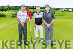At Ballyheigue Castle Golf Club President Prize Day on Sunday were l-r  Joe Stack, John Pierse and Mike Joe Quinlan