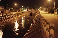 Canal da Visconde de Inahaúma , área da reforma da macrodenagem da Bacia do Una<br /> Belém Pará Brasil<br /> FotoWagner Bills/Acervo H<br /> 2002