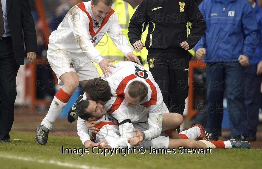 04/02/2006         Copyright Pic: James Stewart.File Name : sct_jspa06_airdrie_v_dundee.WILLIE MCLAREN CELEBRATES SCORING THE EQUALISER FOR AIRDRIE.Payments to :.James Stewart Photo Agency 19 Carronlea Drive, Falkirk. FK2 8DN      Vat Reg No. 607 6932 25.Office     : +44 (0)1324 570906     .Mobile   : +44 (0)7721 416997.Fax         : +44 (0)1324 570906.E-mail  :  jim@jspa.co.uk.If you require further information then contact Jim Stewart on any of the numbers above.........