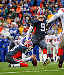 23 December 2007: Buffalo Bills place kicker Rian Lindell (9) in action against the New York Giants at Ralph Wilson Stadium in Orchard Park, NY. The Giants defeated the Bills 38-21. ..Mandatory Photo Credit: Ed Wolfstein Photo