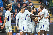 9th September 2017, King Power Stadium, Leicester, England; EPL Premier League Football, Leicester City versus Chelsea; The Chelsea team celebrate at scoring the first goal
