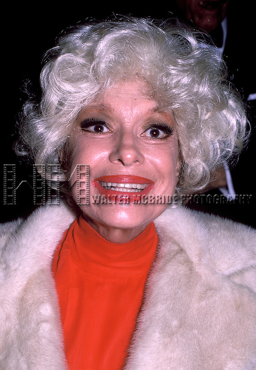 Carol Channing photographed in New York City, November 1989