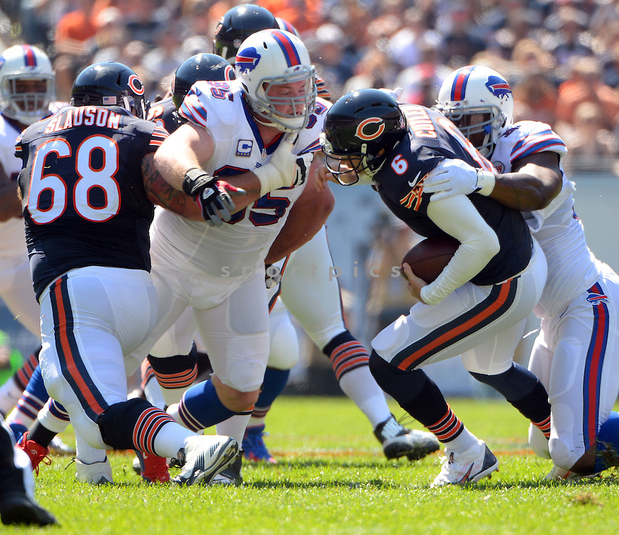 Buffalo Bills Kyle Williams (95) during a game against the Chicago Bears on September 7, 2014 at Soldier Field in Chicago, IL. The Bills beat the Bears 23-20.