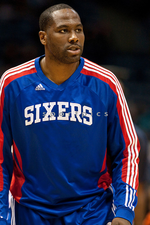 ELTON BRAND, of the Philadelphia 76ers, in actions during the 76ers game against the Milwaukee Bucks at Bradley Center on March 13, 2011.  The Milwaukee Bucks  won the game beating the Philadelphia 76ers 102-74.