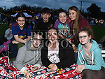 Alan Dowdall, Alanah O'Hannigan, Aoibhinn Maguire, Holly Rowley, Mia Farrell, Grace Duffy and Isobel Clarke at the East Meath United outdoor Cinema night. Photo:Colin Bell/pressphotos.ie